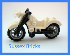 Lego - White Vintage Motorbike Motorcycle Bike - City - Brand New Pieces