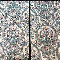 Vintage Shabby Cottage Chic Nettle Creek Curtain Panels Drapes (2) 50x85 Floral