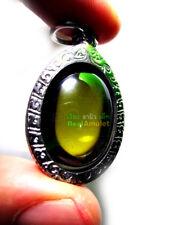 1417-HEALING STONE NAGA EYE LEKLAI KAEW AMULET CRYSTAL WIZARDRY SOMPORN GREEN