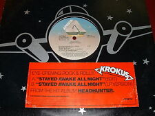 "KROKUS- Promo 12"" Vinyl LP ""Stayed Awake All Night"" RARE Heavy Metal 1983 Rock"