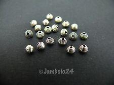 s0020 Silberperlen 20 Beads - Spiralen gewickelt - 950er Silber Karen Hill Tribe