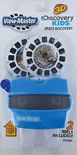 SPACE DISCOVERY View-Master SET Viewer + 2 3D Reels Planets Astronaut Moon NEW