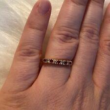 Ruby Diamond Anniversary Celebration Engagement Wedding Stacking Band Ring 7