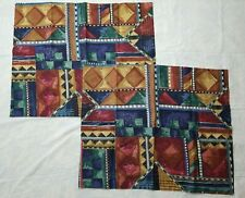 2 Vtg Dan River Aztec Southwest Abstract Pillow Shams OR 2 Pillowcase Jewel Tone