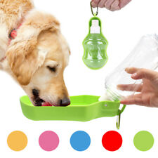 Foldable Dog Water Bottle Portable Pocket Drink Bowl Travel Drinking 250/500ml