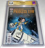 Princess Leia #1 CGC SS Dual Signature Autograph STAN LEE YOUNG Marvel 9.8 Var