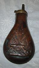 Black Powder Brass Flasks w/ Cannon