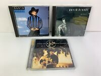 Lot of 3 Garth Brooks CDs - Ropin' The Wind, No Fences, Double Live (2 disc) VG