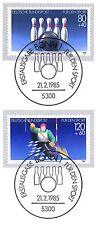 BRD 1985: Kegeln und Kanuslalom! Sport Nr 1238+1239 mit den Bonner Stempeln 156