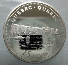CANADA 1867-1992 ANNIVERSARY 25¢ QUEBEC SILVER PROOF QUARTER COIN