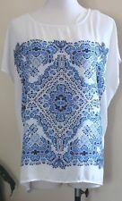 Suzanne Grae Top ~ Ladies L ~ Oversized Chiffon Shirt  ~ MBC