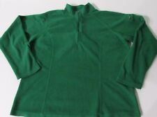 L.L. Bean Boy's Green Fleece 1/2 Zip Long Sleeve Jacket Shirt, size M
