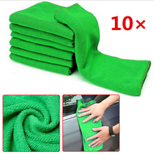 10Pc Microfiber Kitchen Wash Auto Car Home Dry Polishing Cloth Cleaning Towel