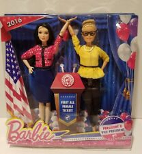 Barbie 2016 President Vice President Dolls First All Female Ticket Doll Set New