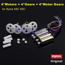 4PCS Original CW/CCW Motor Engine + Gear Wheel Set Syma X5C RC Drone Spare Parts