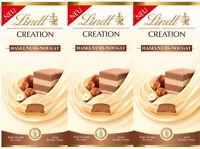 Lindt Creation Weiße Haselnuss Nougat Schokolade 3x150g MHD 11/20