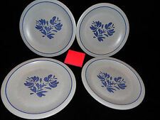 "pfaltzgraff yorktowne stoneware USA 4 large dinner plates 10.25"" 2 sets lot 8"