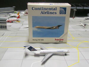 "Vintage HERPA Wings 'CONTINENTAL Airlines"" Boeing 727-200; 1:500; Excellent!"
