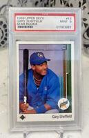 Gary Sheffield 1989 Upper Deck PSA 9 #13 Star Rookie Card
