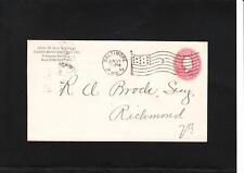 Rasin Monumental Co Baltimore 1899 Flag #3 PSE R Brock Richmond VA Cover z81