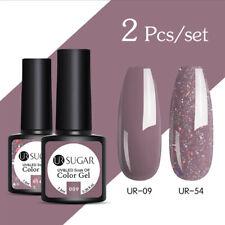 UR SUGAR 2 Bottles Combo Set UV Gel Nail Polish Soak Off Gel Varnish Glitter