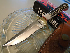 American Hunter Stag Hunter Bowie Skinner Knife 5mm Full Tang Leather Sheath 797