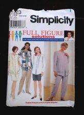 Simplicity Full Figure 7623 Pantsuit Pants Top Skirt FF Plus 18W-24W Uncut