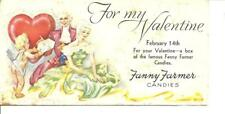 Vintage Valentine's Day Fanny Farmer Candies Ink Blotter Victorian Cupid sweet