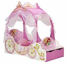 Disney Princess Carriage Kids Toddler Bedroom Bed, Pink, Toddler (70 x 140cm)