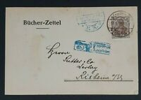 1918 Germany Strassburg Bookstore Advertising Invoice Bill Postcard Cover