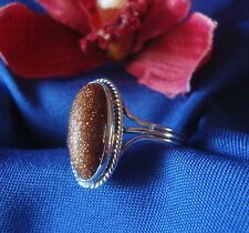 Schöner Goldfluss Ring 830 er Silber Goldflußring Fingerring / Art. gg 075
