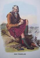 Clan MacPharlan - Scottish Tartan Art Print - MATTED