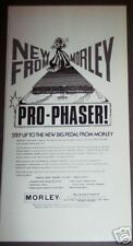 1976 Morley Pro Phaser Guitar Pedal footpedal print ad