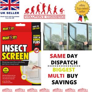 WINDOW SCREEN MESH NET FLY BLACK/WHITE INSECT BUG MOSQUITO MOTH DOOR NETTING NEW