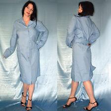 blaues langarm VINTAGE KLEID zum knöpfen* XL 50/52 * Arzt Frisör Kittelschürze
