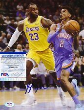 Shai Gilgeous-Alexander Oklahoma City Thunder Autographed 8x10 Photo PSA/DNA