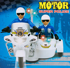 BUMP AND GO KIDS POLICE MOTORBIKE SCOOTER BATTERY OPERATED LIGHT & MUSIC TOY