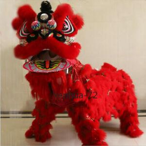 Chinese Foshan Lion Dance Mascot Costume Huang Feihong South Lion / Red 舞狮