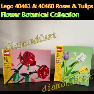 Lego 40461 & 40460 Roses Tulips Flower Bouquet Botanical Collection Kid Toy Gift