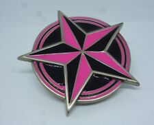 Belt Buckle Pewter Great American Products 2002 Fine Pewter 4613 Pink and Black