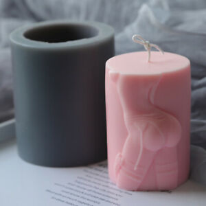 Silicone Column Aromatherapy Craft Sexy Charming Buttocks Mould DIY Candle Mold