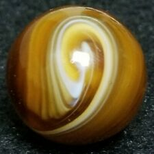 "NM+ .85"" M.F CHRISTENSEN AND SON TRANSITIONAL # 9 SWIRL MFC MARBLE AGATE ANTIQUE"