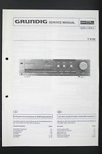 GRUNDIG V 8100 Original Estéreo Amplificador Manual de servicio/