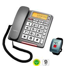 Hagenuk BIG 64 Einzelleitung Schnurtelefon Seniorentelefon SOS-Taste Mini-Funkse