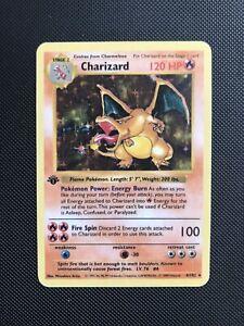 Pokemon Charizard set base shadowless 1st Edition Mitsuhiro Arita PROXY