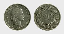 s528_111) Svizzera  Switzerland  Helvetia - SUISSE -  20 Rappen 1898 B