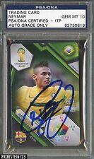 Trading Card Neymar Auto Psa/Dna 10 Gem Mint