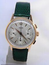 Montre chronographe JAEGER en or 18k  mouvement valjoux 72 vers 1950 vintage