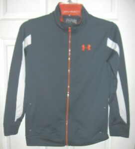 Under Armour Classic Gray Under Armour Youth Medium Sweatsuit Jacket