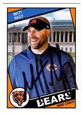 Unique Chicago Bears Head Coach Matt Nagy signed ACEO card auto UNIQUE